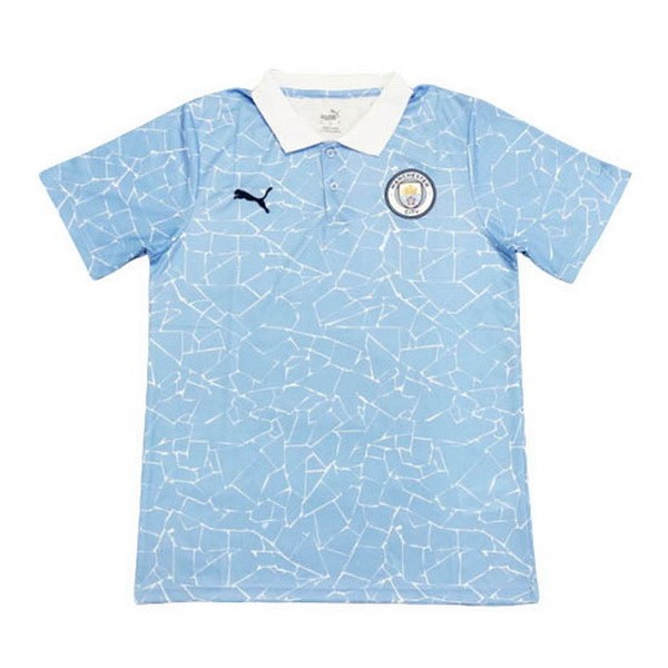 Polo Manchester City 2020/2021 Azul Blanco